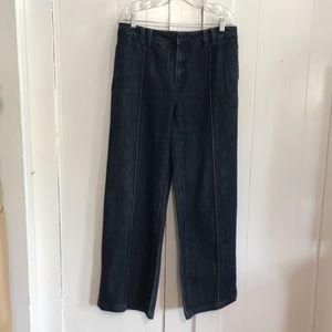 Coldwater Creek Dark Wash Wide Leg Jeans 12
